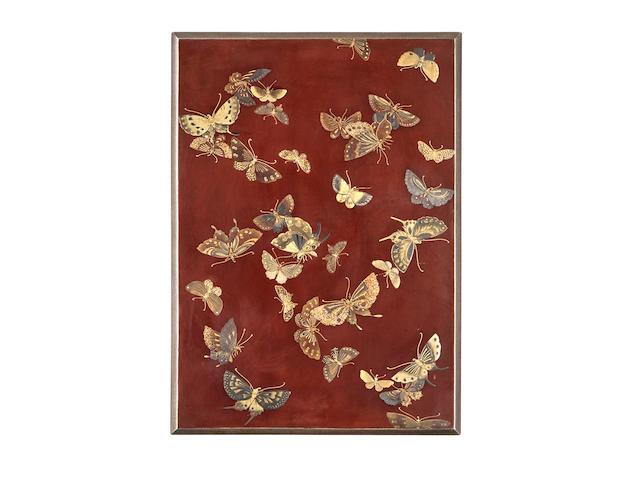 Shoryusai (active late 18th century) A fine lacquer suzuribako (writing box)Edo period (1615-1868), late 18th century