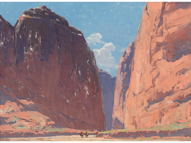 Edgar Payne (1883-1947) Canyon Walls 25 x 30in framed 34 x 39in