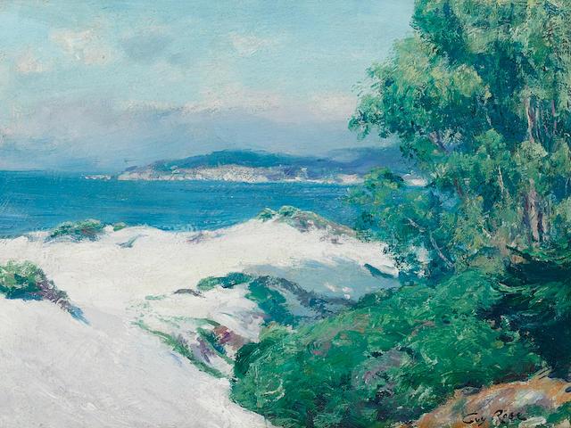 Guy Rose (1867-1925) Carmel Dunes 10 x 13 3/4in framed 17 x 21in