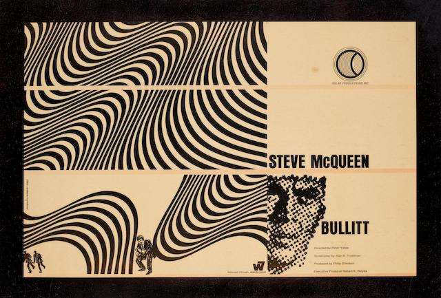 An original unused concept artwork tear sheet for Bullitt