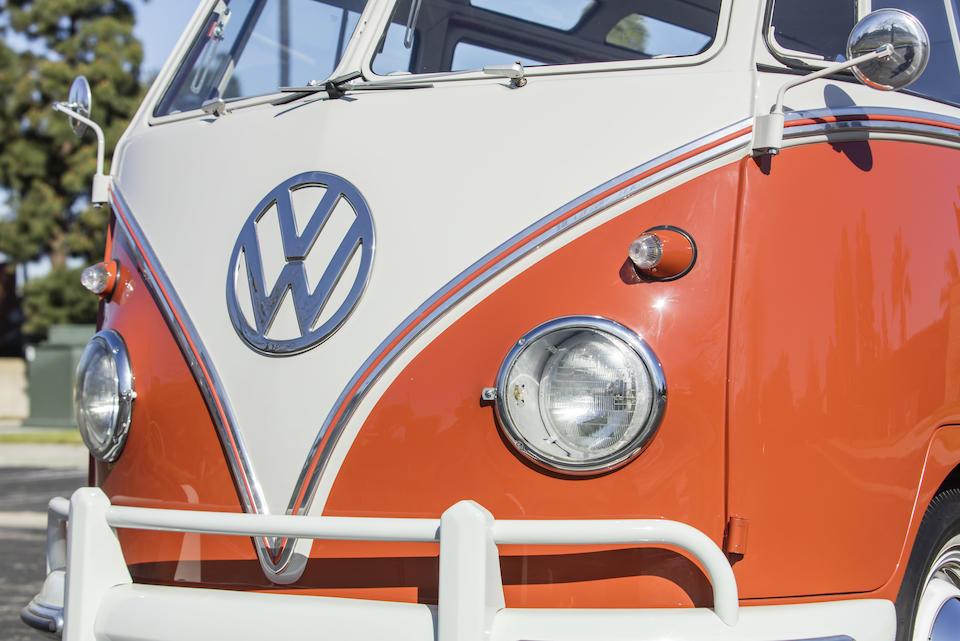 <b>1959 Volkswagen Type 2 Microbus Deluxe 'Samba' 23-Window  </b><br />Chassis no. 329207 <br />Engine no. 93811