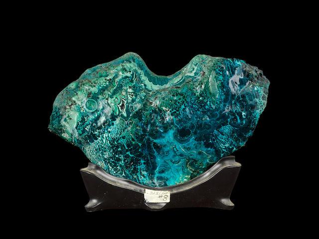 Large Heart-shaped Malachite with Chrysocolla