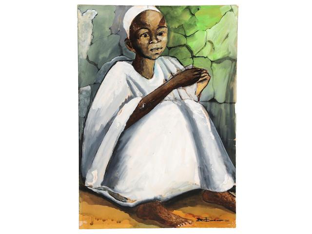 Benedict Chukwukadibia Enwonwu M.B.E (Nigerian, 1917-1994) Hausa Boy 21 1/4 x 15in (54 x 38.1cm)