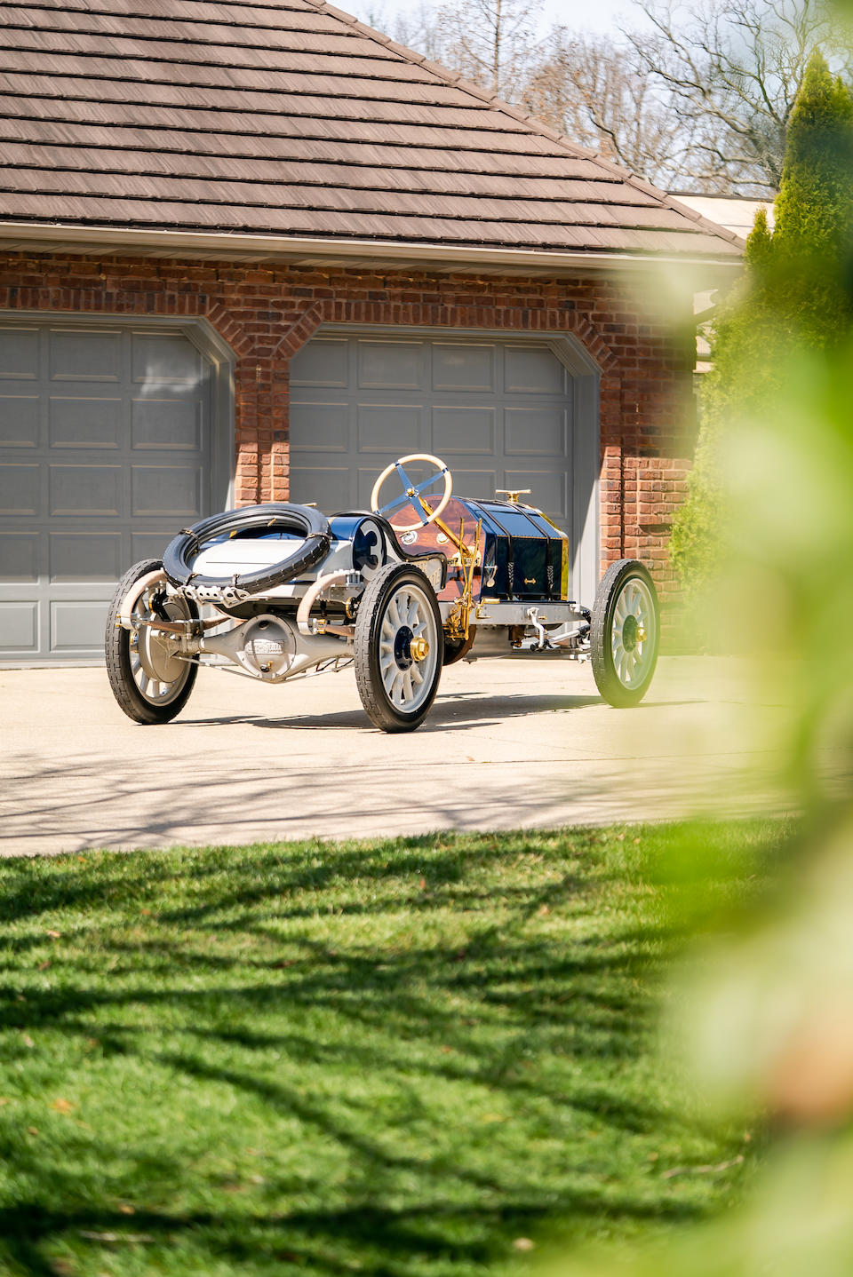 """<b>1911 Inter-State Fifty 'Bulldog' """"Indianapolis Racer""""</b><br />Engine no. 4157<br />Transmission no. 4158"""