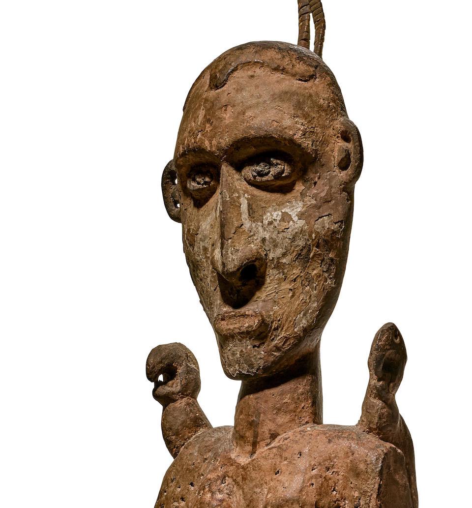 Exceptional Sawos Ceremonial Hook Figure, Middle Sepik River, Papua New Guinea