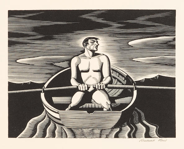 Rockwell Kent (1882-1971); Oarsman;
