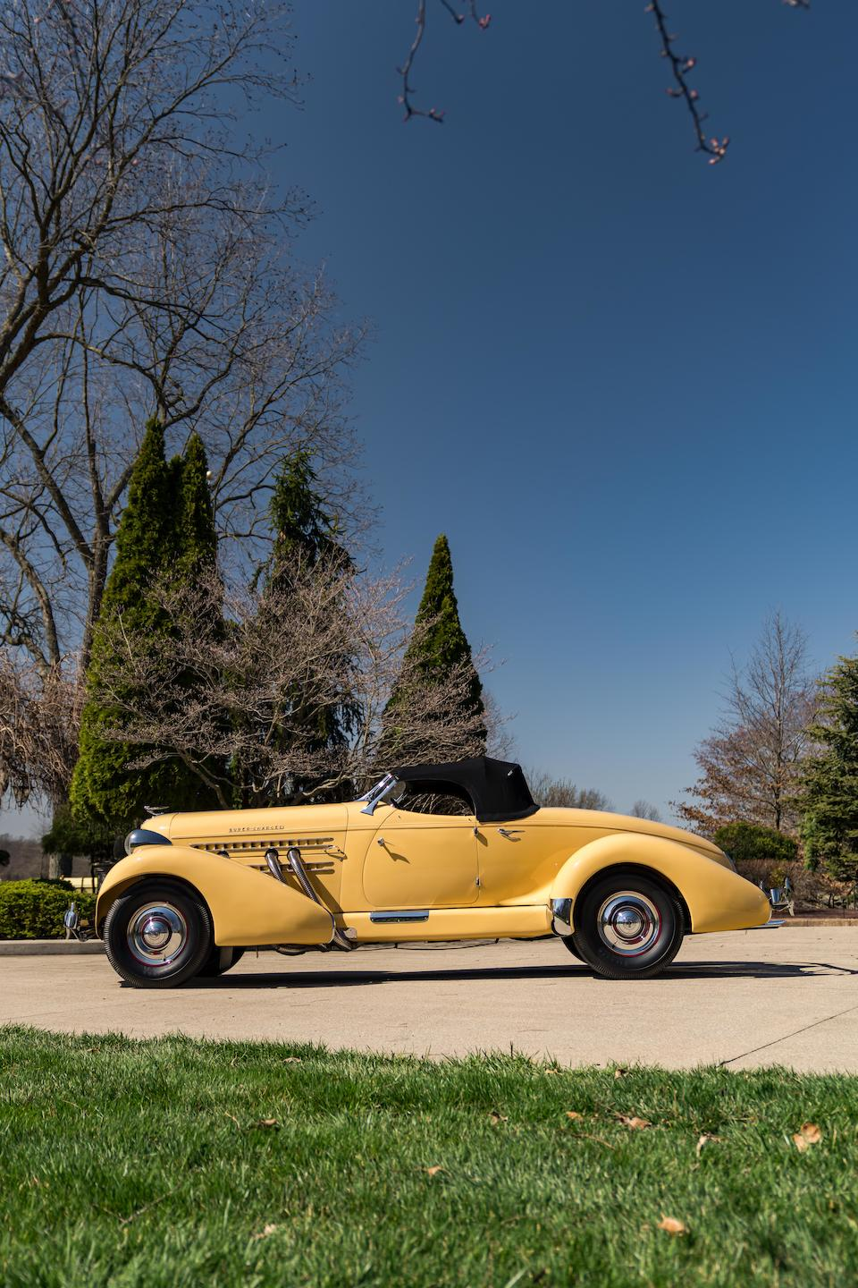 <b>1935 Auburn 851 Supercharged Boattail Speedster  </b><br />Serial no. 851 33094 E <br />Chassis no. 2094 <br />Engine no. GH 43309<br />Body no. U47-194