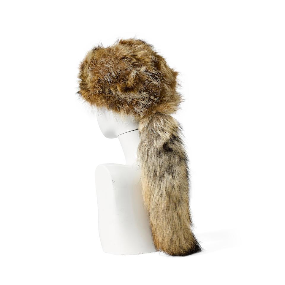 A Fess Parker coonskin cap from Davy Crockett