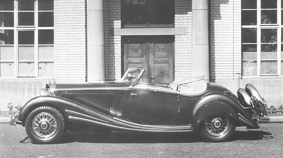<b>1934 Mercedes-Benz 500/540K (Factory Upgrade) Spezial Roadster  </b><br />Chassis no. 105136 <br />Engine no. 105136