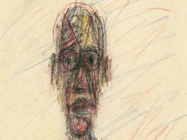 ALBERTO GIACOMETTI (1901-1966) Tête 5 9/16 x 4 3/16 in (14.2 x 10.6 cm) (Executed circa 1950)