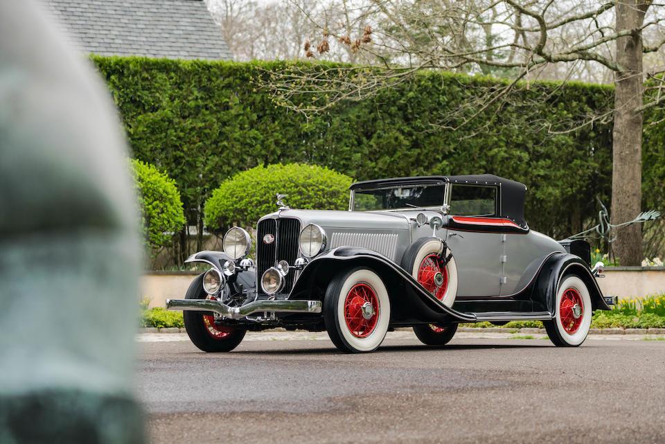 <b>1931 Auburn 8-98A Cabriolet  </b><br />Chassis no. 898A13046F <br />Engine no. GU51926