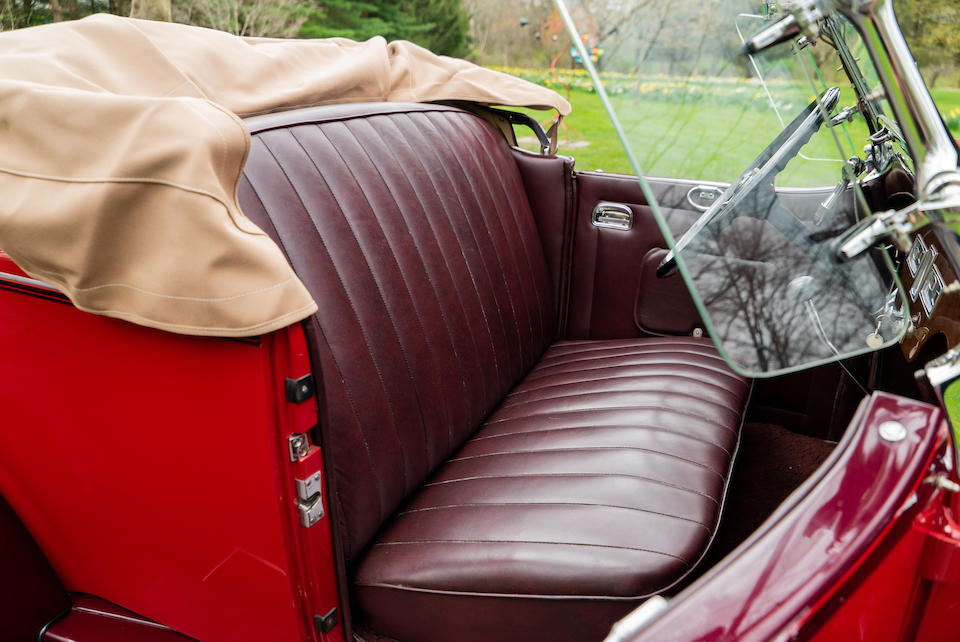 <b>1931 Hudson Greater Eight Boattail Roadster  </b><br />Chassis no. 924469 <br />Engine no. 45937