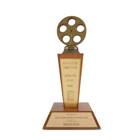 A Philip D'Antoni Golden Reel Award for Bullitt
