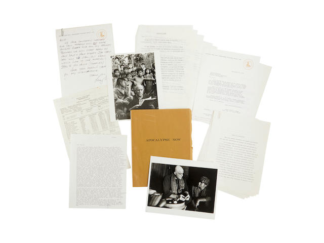 A Marlon Brando Collection of scripts, letters, and notes for Apocalypse Now
