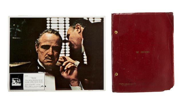 A Marlon Brando Collection of scripts, letters, and memorabilia for The Godfather