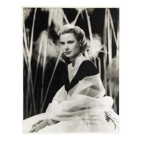 A Grace Kelly oversized signed photograph