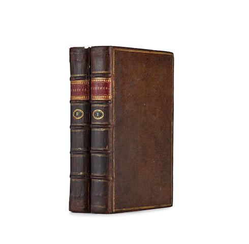 AN EXTRAORDINARILY FINE COPY OF GULLIVER'S TRAVELS. SWIFT, JONATHAN. 1667-1745. Travels into Several Remote Nations of the World ... by Lemuel Gulliver. London: Printed for Benj. Motte, 1726.