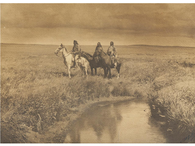 Edward S. Curtis (1868-1952); In the Land of the Sioux: Three Chiefs, Piegan;