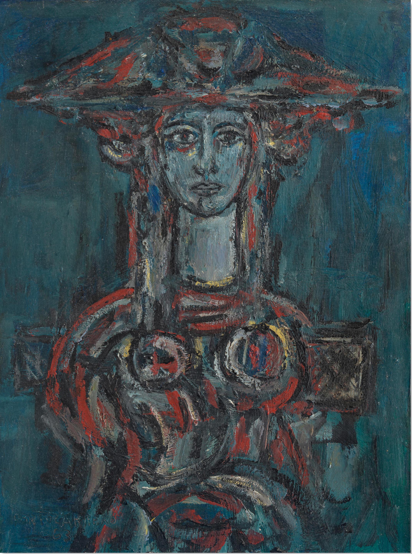 RENÉ PORTOCARRERO (1912-1986) Torso de mujer 23 13/16 x 15 15/16 in (60.5 x 45.5 cm) (Painted in 1963)