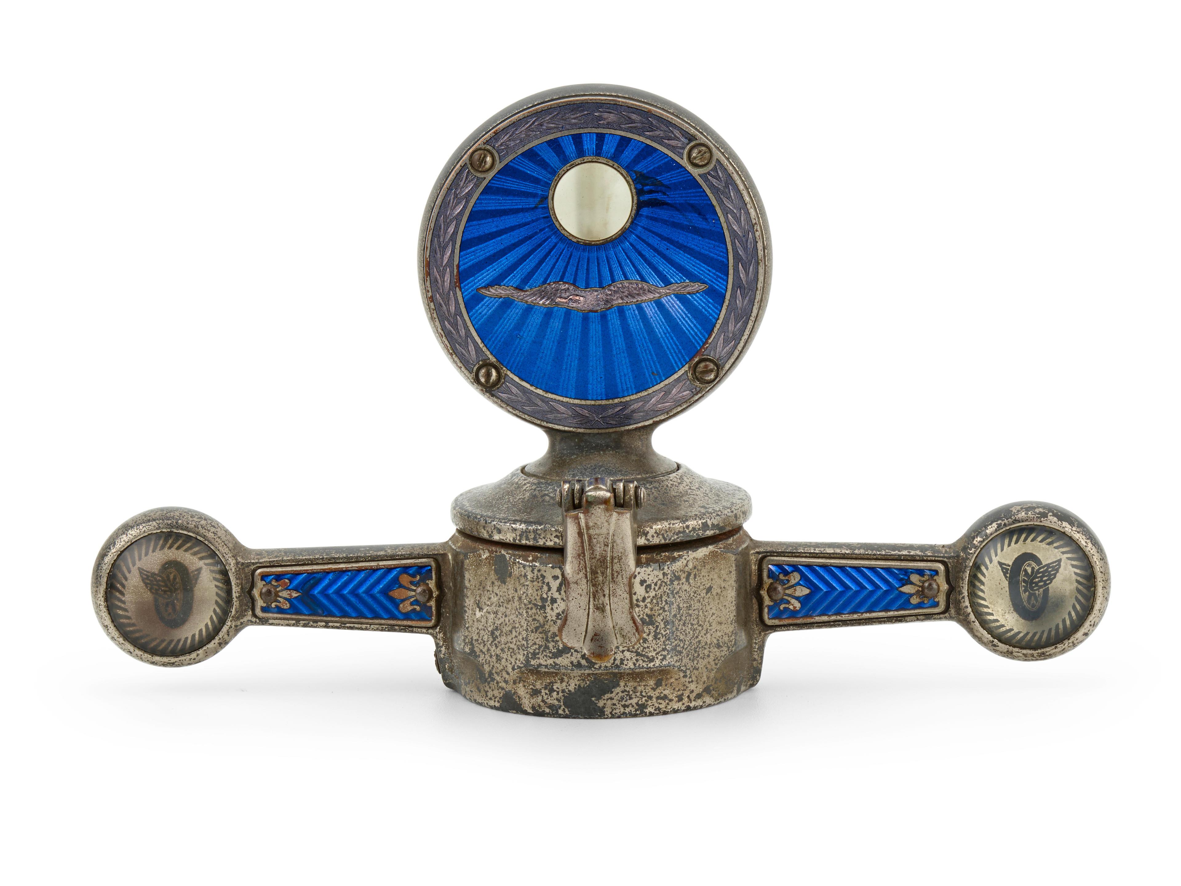 A cloisonné enameled decorative motor meter, American, 1920s,