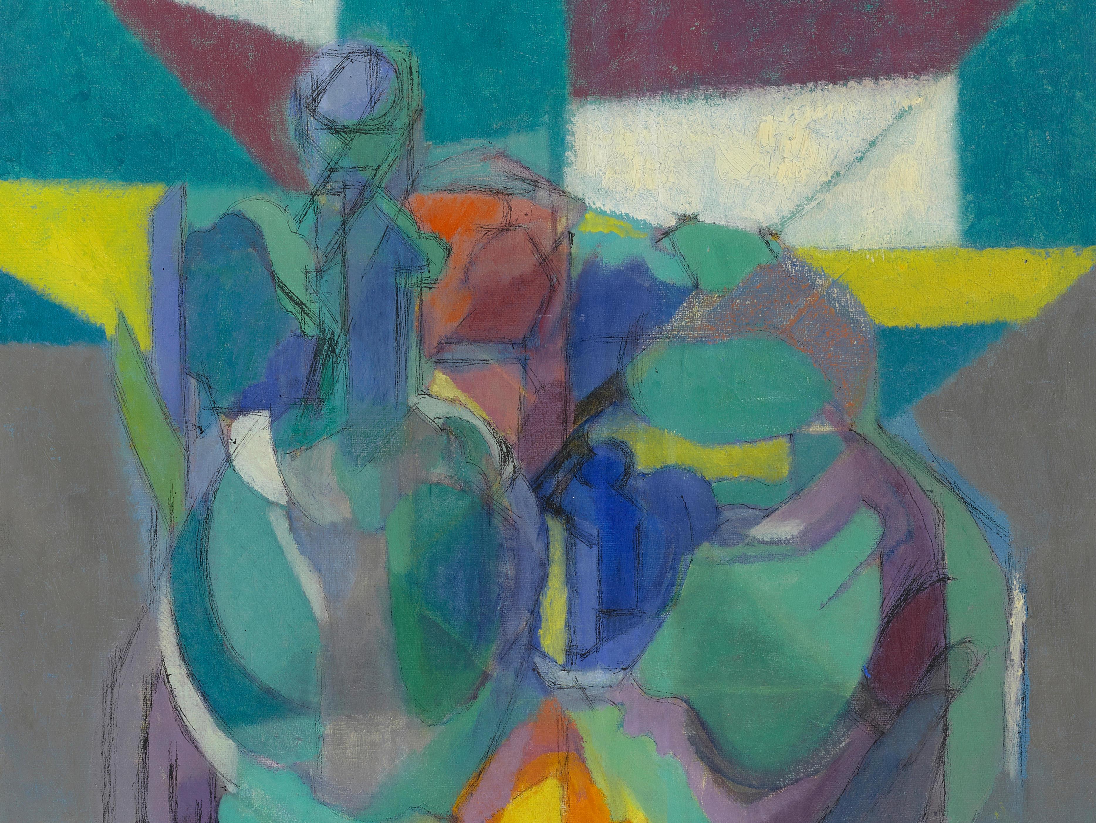 JACQUES VILLON (1875-1963) Le verre d'eau 21 9/16 x 18 1/8 in (54.7 x 46 cm) (Painted in 1948)
