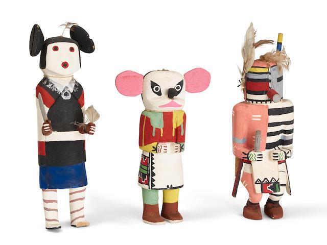 Three Hopi katsina dolls