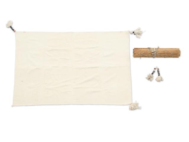 A Hopi Wedding manta/cape and suitcase