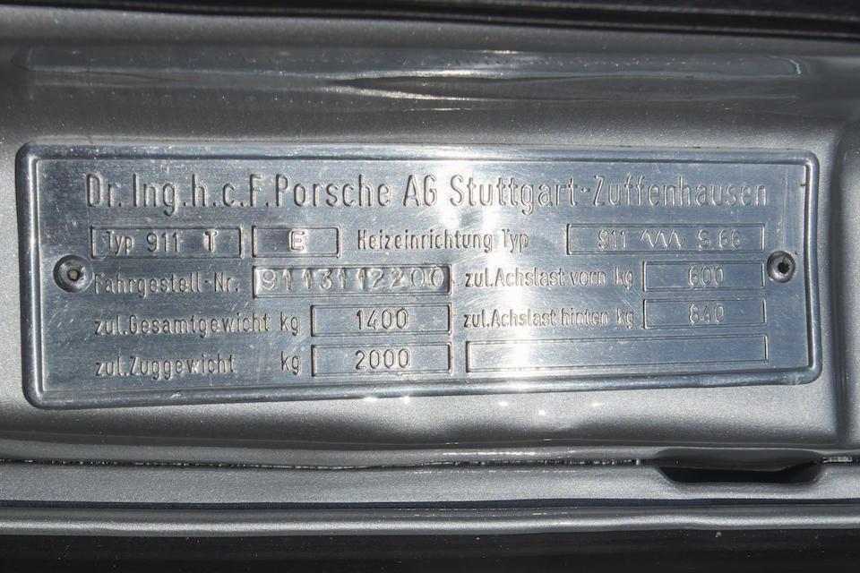 1973 Porsche 911T 2.4 TARGA <br /> Chassis no. 9113112200<br /> Engine no. 6135850