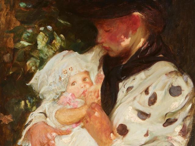 Sir James Jebusa Shannon, RA, RBA, RHA (British, 1862-1923) The Flower Girl