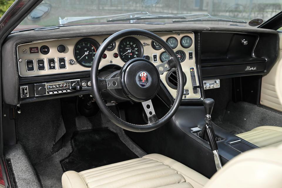 1973 Maserati  Bora 4.9 <br /> Chassis no. AM111/49/500