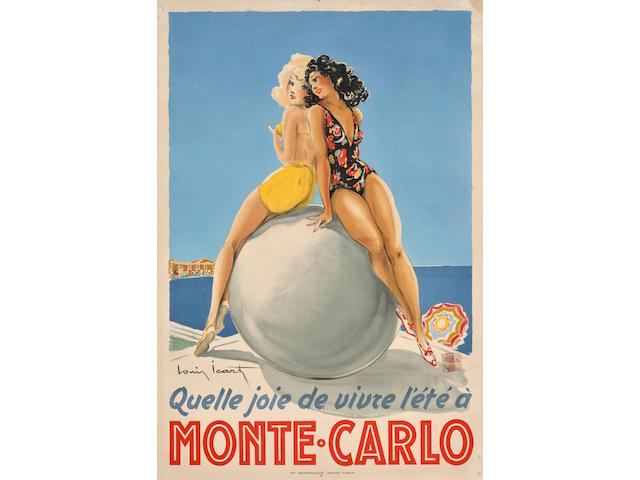 Louis Icart (1888-1950); Monte-Carlo;