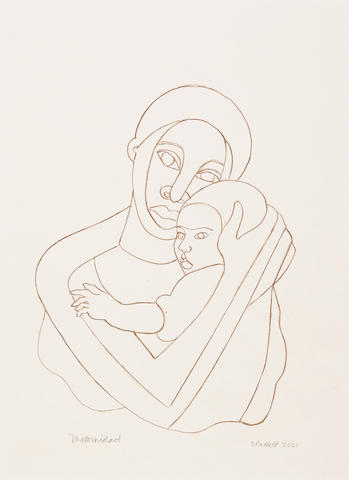 Elizabeth Catlett (1915-2012) Maternidad sheet size 19 1/4 x 13 1/8in (48.9 x 33.3cm) (Drawn in 2001. )