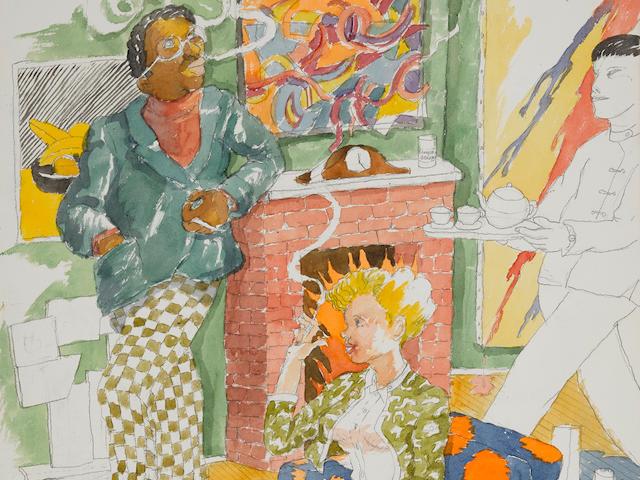 ROBERT COLESCOTT (1925-2009) Tea for Two, 1980