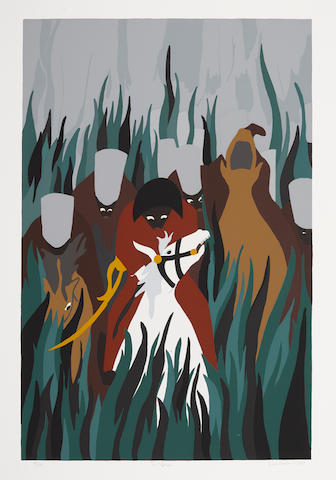 Jacob Lawrence (1917-2000); The Capture, from The Life of Toussaint L'Ouverture;