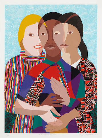 Elizabeth  Catlett (1915-2012); Three Women of America;