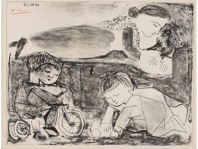 Pablo Picasso (1881-1973); Les Jeux et la Lecture;