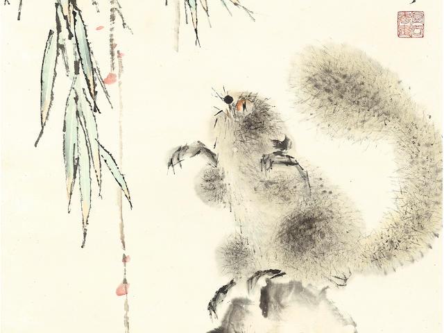 Xugu (1823/4-1896)  Squirrel and Bamboo, 1889