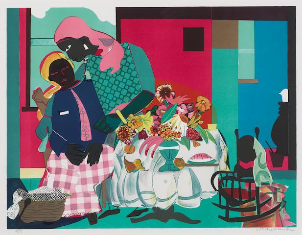 Romare Bearden (1914-1988); Morning (Carolina Morning);