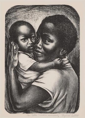 Elizabeth  Catlett (1915-2012); Black Maternity;