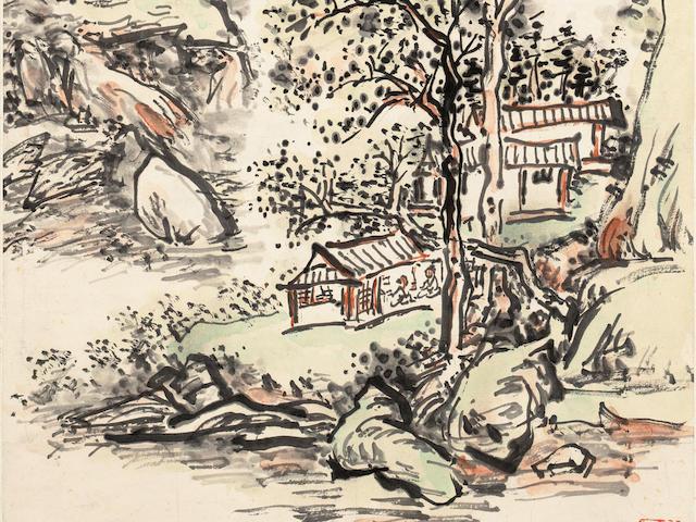 Huang Binhong (1865-1955) Landscape for Professor Liu Ruli, 1952