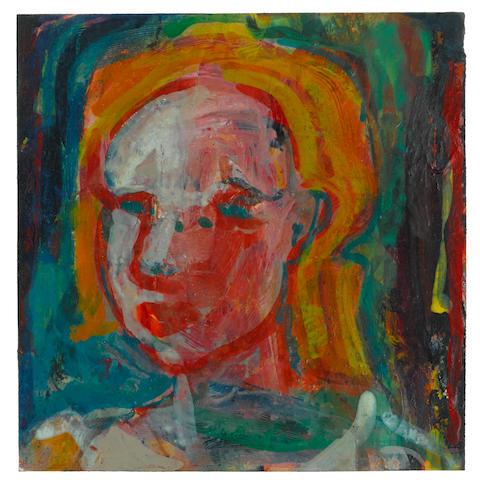 David C. Driskell (born 1931) Neighbor 5 x 5in (12.7 x 12.7cm)  (Executed in 2001.)