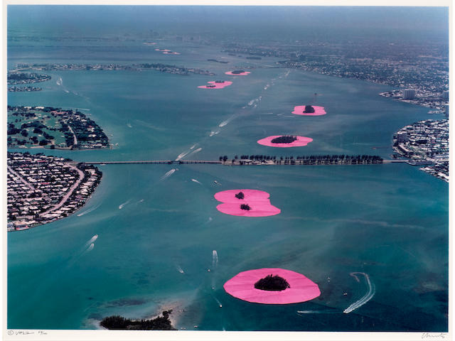 Christo & Jeanne-Claude (1935-2020; 1935-2009); Surrounded Islands, Biscayne Bay, Greater Miami, Florida, edition 53/100 (4 works);