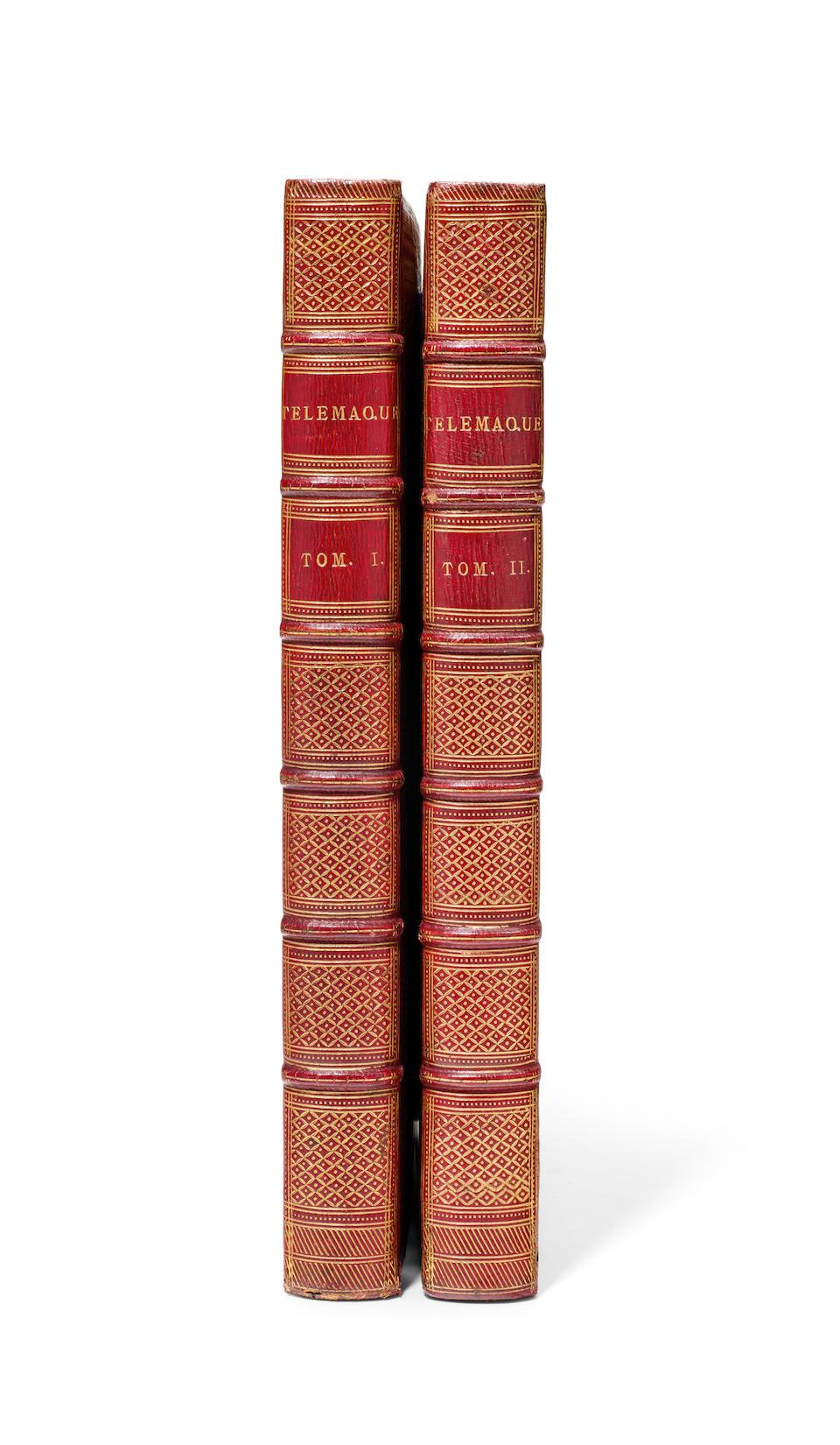 FÉNELON, FRANÇOIS DE SALIGNAC DE LA MOTHE. 1651-1715. Les Aventures de Telemaque.  Paris: Imprimerie de Monsieur, 1785.