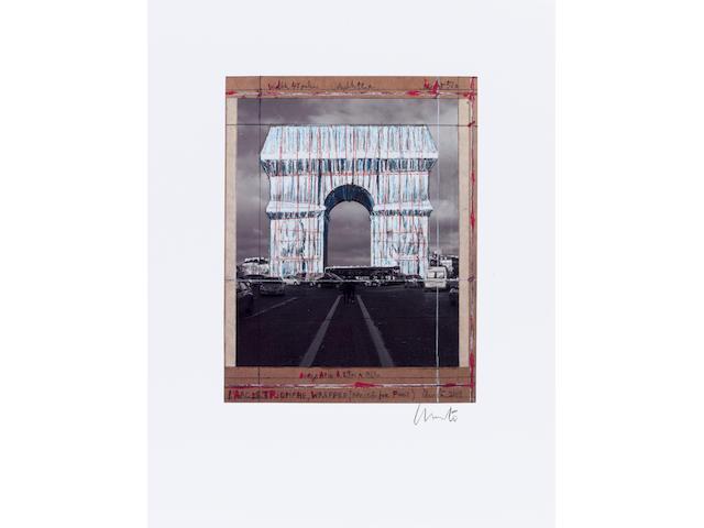 After Christo & Jeanne-Claude (1935-2020; 1935-2009); L'Arc de Triomphe, Wrapped (Project for Paris);