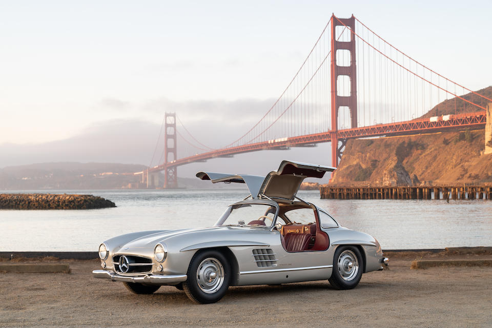 <b>1955 Mercedes-Benz 300SL Gullwing Coupe </b><br /> Chassis no. 198.040.5500128 <br />Engine no. 198.980.5500104